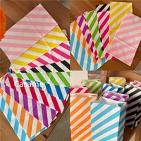 Gift Wrap 50 Pcs Stand Stripe Bags For Packaging Cake Boxes Thank You Bag Party Favors Candy Cookies Box Colorful Wedding