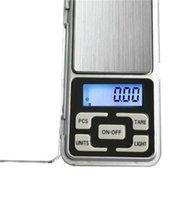 Mini Échectronie Numérique Bijoux Pesée Balance Solde Balance Gram LCD Échelle d'affichage avec boîte de vente au détail 500g / 0,1 g 200 g / 0,01g 293 v2