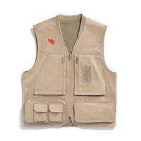 Hommes Designer Vestes Travis Scott Cactus Jack Utility Fonction Multi-poche Outillage Vest Casual Fashion Marque High Street Outwear