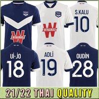 21 22 adulto kits kits girondins de bordeaux maillot de futebol camisa 2021 2022 jerseys de futebol maja oudin s.kalu ben arfa t.basic homens uniforme tailandês