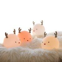 Decorazione del partito Novelly Silicone Creativo Creativo Cartoon Cute Deer Night Sleep Light LED Carica Caldatura SILIALE PATTURAZIONE USB DECOMPRESSIONE DECOMPRESSIONE BABY BAMBINO G