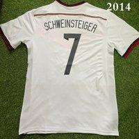 Alemania 2014 كرة القدم الفانيلة الرجعية خمر كلاسيكي بيكنبور ماتثوس Voller Klingsmann Schweinsteiger Camisetas 1980 كرة القدم قميص Camisa Maillot de Futbol
