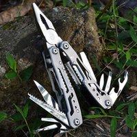 Multifunction Stainless Steel Multi-tool Pocket Knife Pliers Folding Pliers Mini Portable Folding Pliers T4025