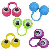Детская новинка игрушка многоцветные глазные марионетки пальцев пластиковые кольца с Wiggle глазами вечеринки пальцы игрушки
