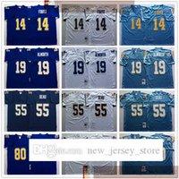 NCAA Vintage 75-й ретро колледж футбол 55 младший Seu Jersey Shated 80 Kellen Winslow 19 Lance Alworth 14 Dan Fouts трикотажные изделия синий белый