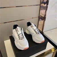 2021 Dernières chaussures de design Tri-Color Cuir Tissu Tissu Technique Camouflage Modèle de camouflage Sneakers Casual Fashion Tendance confortable taille respirante 35-45