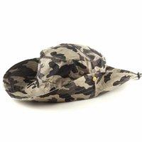 Cloches Açık Tırmanma Caps Visor Şapka Orman Kamuflaj Broadside Askeri Taktik Kap Erkek Rekreasyon Aktiviteleri Kova Şapkalar Satış