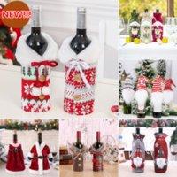 حار عيد الميلاد زجاجة النبيذ غطاء عيد ميلاد سعيد ديكور للمنزل عيد الميلاد الحلي هدية عيد الميلاد سنة جديدة سعيدة السنة الجديدة 2022 DHL الشحن السريع