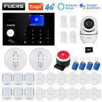 Fuers Güvenlik Sistemi Wifi 4G GMS Tuya Akıllı Ev Kablosuz Alarm Seti Kamera Kontrol Siren Hareket Dedektörü PIR Duman