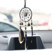 Keychains Mini Dreamcatcher Wind Chimes Feathers Handcraft Chic Car Hanging Craft Ornaments Home Mirror Girl Room Bedroom Wall Decor Gifts