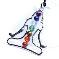 الكريستال الطبيعي 7 الملونة حجر الأزياء سحر ل diy قلادة قلادة اليوغا سبع نجوم مجموعة المجوهرات