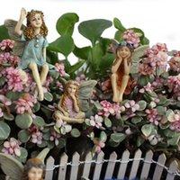 Bahçe Süslemeleri Sevimli Prenses Reçine Yaratıcı El Sanatları Süsler Küçük Kız Modeli Ayakta Mikro Peyzaj Saksı Dekorasyon Ev Statu