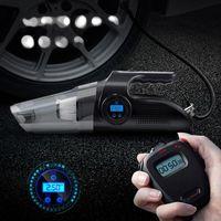 مكنسة كهربائية 4 في 1 سيارة الإطارات نافخة الرقمية شاشة ضاغط الهواء مضخة الرطب والجافة الاستخدام المزدوج للمنزل