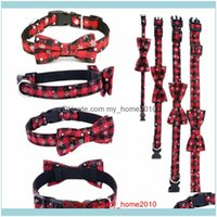 Supplies Home Gardendropship Fashion Pet Puppy Dog Cat Bow Tie Collar Necktie Bowknot Necklace Strap Styling Collars & Leashes Drop Delivery