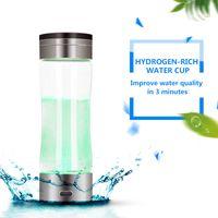 Генератор, богатый водородным дозатором воды Генератор-машина SPE Электролиз Ионизатор Антивозрастная щелочная чистая H2 Nano Cup / Бутылка перезаряжаемая