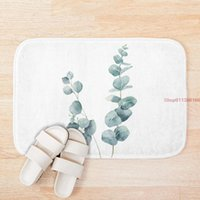 Mat Eucalyptus Leaves Bath Mats Anti Slip Toilet Rug Kitchen Bedroom Carpet Custom Doormat Soft Bathroom Door