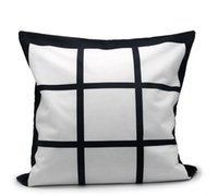 50pcs lot Square Advertising 16X16 Inch Sublimation 9 Panel Pillow Case  Cushion Cover For Decoration Promotion