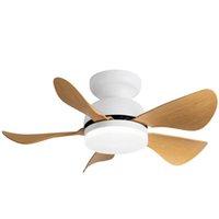 Mini ventilateur de plafond LED lampe haute qualité ABS Blade DC Moteur 110-240V Télécommande moderne Blanc pour la salle à manger Chambre à coucher