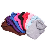 Fashion Solid Dog Apparel Trendy Soft Touch Pets Cotton Hoodies All Seasons Personality Charm Cat Coats