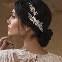 Haarclips Barrettes Youlapan HP01 Pearl Floral Kamm Hochzeit Strass Brautzubehör Frauen Schmuck Gold Farbe Kopf Ornament Haarband