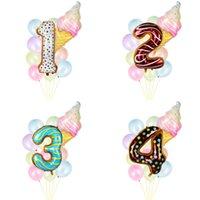 12 pz 0 1 2 3 4 5 6 7 8 9 anni 9 anni 9 anni Bambini Bomboniere Bomboniere Balloon Kit Ciambella Gelato Gelato Numero Ballon Crystal Balloons 1st Giorno di nascita Decorazioni per feste