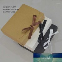 Gift Wrap 10pcs 12 Size Large Box White Black Craft Kraft For Candy Wedding Birthday Paper With Ribbon1