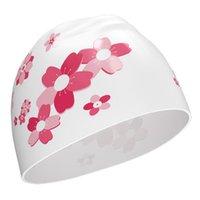 Floral Stampato Bambini Donne Possitore Cappucci in silicone Silicone Stile elegante Piscina Swim Cappelli Accessori da spiaggia 2021 2o