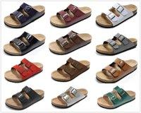 2021 Arizona Brik Men Cork Flat Face Sandals Женская мода летние пляжные повседневные туфли с пряжкой оптом натуральная кожа