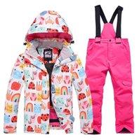 스키 재킷 키즈 스키 정장 어린이 브랜드 windproof 방수 따뜻한 아이 소녀 눈 설정 겨울과 스노 보드 재킷 바지