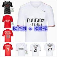 Gracz Wersja 21 22 Benfica Soccer Jerseys Éverton Home Away Otamendi Grimaldo 2021 2022 Rafa Jota Pizzi Rúben T Seeferovic Pedrinho Men Football Shirt Man Kids Kit