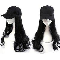 Casquette de baseball Perruque médical Patient Perruque Chapeau Un Summer Long cheveux Cheveux de mode Naturel