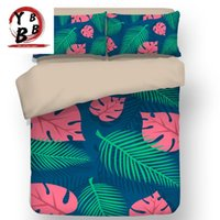 Set di biancheria da letto con coperchio del piumino Flower Set rosa verde fiore di ciliegio modello con giapponese a tema molla a tema stampa arte twin regina king