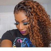Spitzefront Menschliche Haarperücken 1b 30 Farbe Lace Front Ombre Curly Perücke Für Frauen Glueless Prespucked 150% Dichte Remy Hair