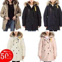 Winter coat Beige Outerwear women Plus Jacktes Short Long parka Double detachable Real fur hat High quality down jacket Plus size