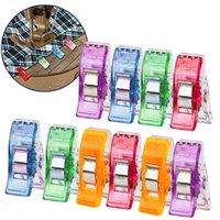 가방 클립 재봉 클립 플라스틱 클램프 퀼팅 크로 셰 뜨개질 안전 모듬 색상 바인딩 종이 HH21-275