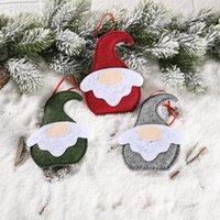 Рождественская елка орнамент лес старик плоские подвески творческий прекрасный санта Клаус безликая кукла украшения новогодние подарки owd10105