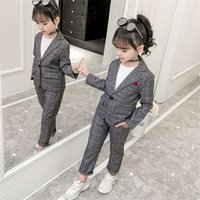 Teenage Girls Clothing Set Autumn Plaid Suit for Girls Jackets Pants School Tracksuit Boys Clothes Children Clothes 8 10 Years 0927