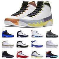 Vente en gros Hommes Chaussures de basketball 9 9s Changer le monde Gym Rouge Blanc Université Gold Mens Racer Blue Cactus Fleur Rétro Entraîneurs Sneakers 40-47