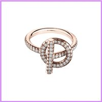 S925 Sterling Silver Ring Rose Gold Women Fashion Rings Designer Jewelry Diamond Inlay Mens Ladies For Party Wedding Designers D219235F