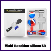 Multi Function Honeycomb Silicone Smoking Pipe with Glass Bowl Titanium Nail Tobacco Pipes Kit 0266343