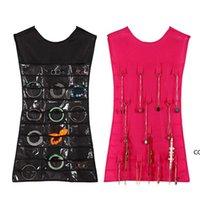 30 Pocket 24 Hanging Loop Borsa di stoccaggio Borsa gioielli Holder Collana Bracciale Bracciale Earring Anello Organizzatore Borsa per gioielli 83 * 45cm1 DHD7471