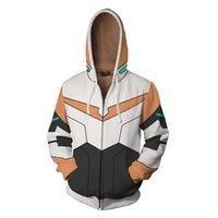 Legend Guard Voltron Dijital Baskı Kazak Kapüşonlu Kazak Trendy Erkek ve Kadın Spor Ceket