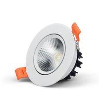 LED-Scheinwerfer 110V 220V Aluminium coole Panel Licht LEDs DOWN Deckeneinbau-Lampen-Spot-Leuchten 3W 5W 7W 9W 12W 15W 18W