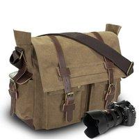 Bag d'épaule Casual Toile Messenger Messenger Nouveau voyage pratique peut être équipé d'une caméra de vessie