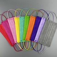 11 cores 4 camadas Respirável Máscara De Máscara Costom 10 Pçs / Saco