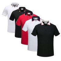 Fashionable verão magro homens t-shirt polo camisa de alta qualidade roupas retalhos retrovertido casual desgaste de algodão