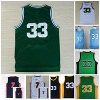Vintage 33 Jersey Sycamores Basquetebol College Jerseys 1992 Equipe High School Green White Costurado