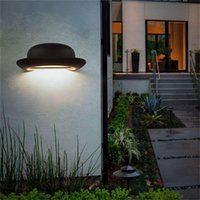 Outdoor Wall Lamps OURFENG LED Light Waterproof Sconces Hat Creative Decorative Indoor Lamp For Porch Aisle Bedroom Living Room