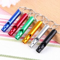 Whistle Keychains Portable Self Defense Rings Holder Fashion Car Key Chains for men free Accessories Outdoor Camping Mini Tools