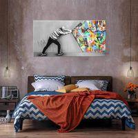 Потяните занавесную масляную картину на холсте домашний декор Heal Handpainted / HD-печать Настенная картина Настройка изображения приемлема 2104297